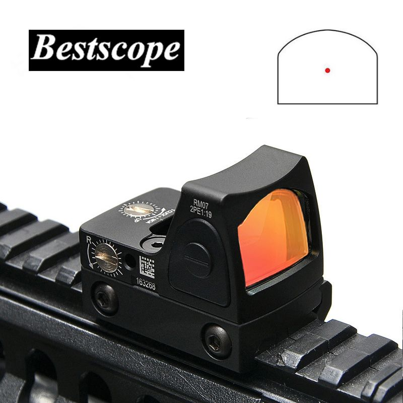 Trijicon Mini RMR Red Dot Sight Collimator Glock / Rifle Reflex Sight Scope fit 20mm Weaver Rail For Airsoft / Hunting Rifle