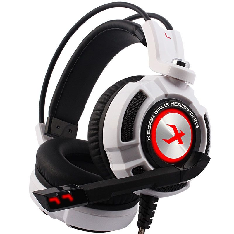 Gaming Headphone 7.1 Sound Vibration Over-ear Headset Earphone USB with Microphone Bass Stereo Laptop Computer Brand Xiberia K3