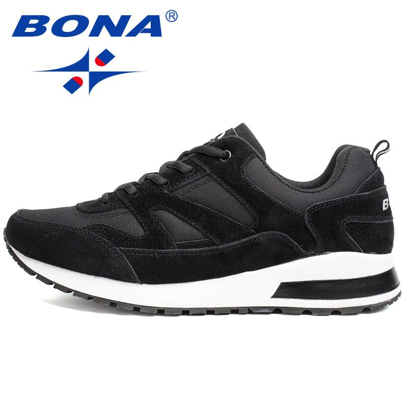 BONA New Basic Style Men Running Shoes Outdoor Activities Jogging Shoes Suede Mesh Sneakers Comfortable Athletic Shoes For Men52