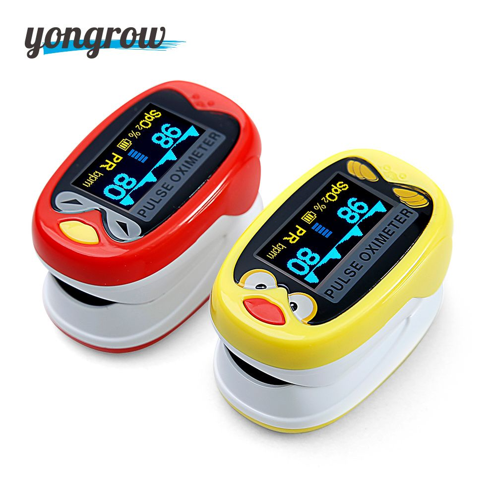Yongrow Medical Infant Finger Pulse Oximeter Neonatal Blood Oxygen Saturation SPO2 Baby Pediatric Pulse Oximeter Rechargeable