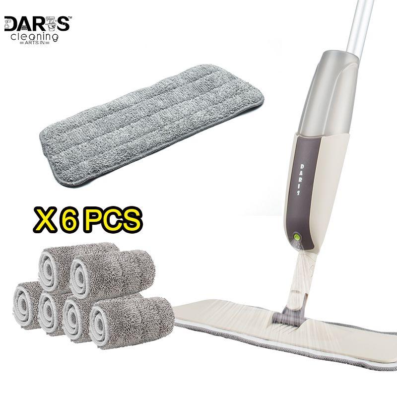 SDARISB Usage Domestique Vadrouille Microfibre Pad Pratique Ménage Poussière De Nettoyage Réutilisable Microfibre Pad Pour Pulvérisation Vadrouille