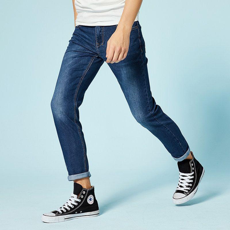 SEMIR jeans pour hommes slim fit pantalons jeans classique mâle denim jeans Designer Pantalon décontracté maigre Droite Élasticité pantalon