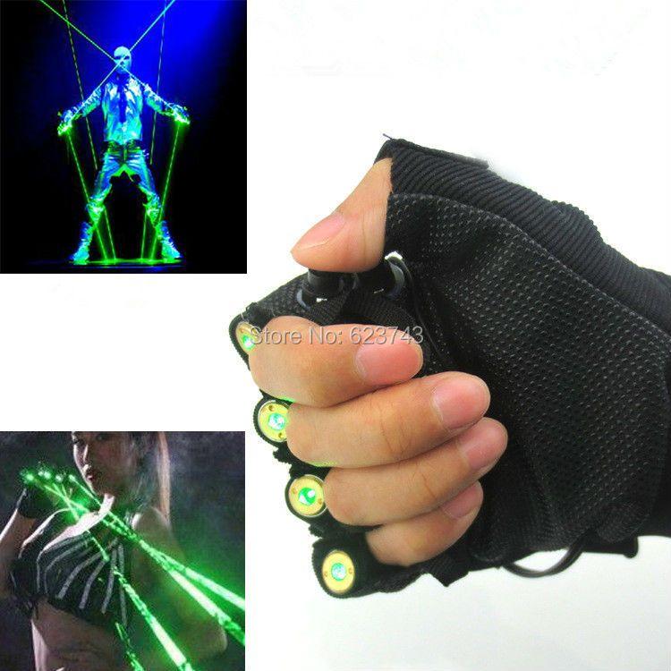 1 шт. красный зеленый лазер Прихватки для мангала Танцы шоу на сцене свет с 4 шт. лазеры и светодиодные ладони свет для DJ Club /партии/баров