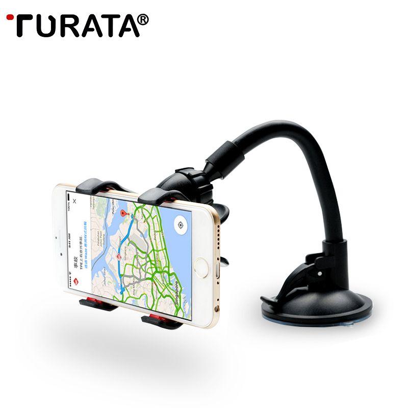 Turata автомобильный держатель телефона, гибкая 360 градусов Регулируемый автомобильный держатель мобильного телефона для смартфонов 3.5-6 дюйм...