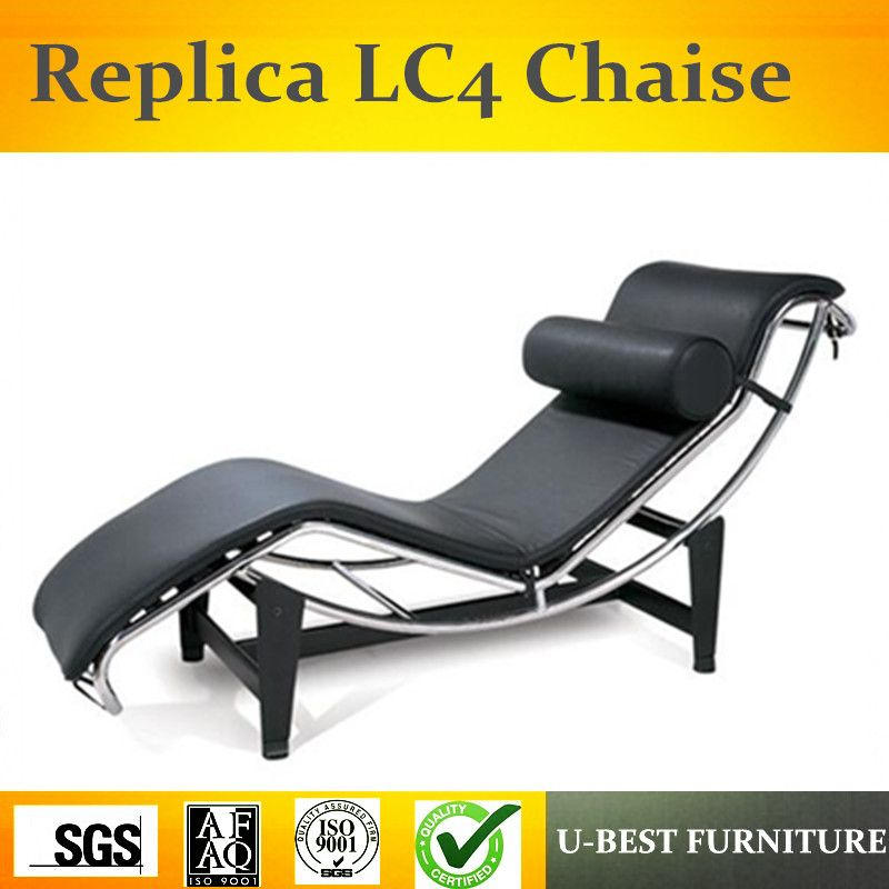 U-BEST Chaise lounge,swan lounge chair,Le Corbusier cowhide daybed stainless steel pony leather chaise lounge LC4
