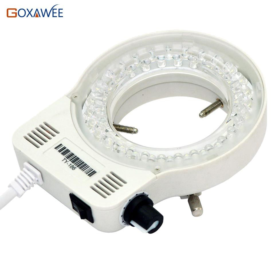 100V 220V 60000LM Adjustable Microscope LED Ring Light Illuminator Lamp For STEREO Microscope Excellent Circle Light