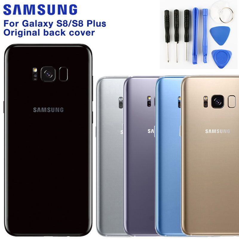 SAMSUNG Original Back Battery Door Rear Glass Case For Samsung Galaxy S8 G9500 S8 Plus S8+ SM-G SM-G955 Phone Rear Battery Door