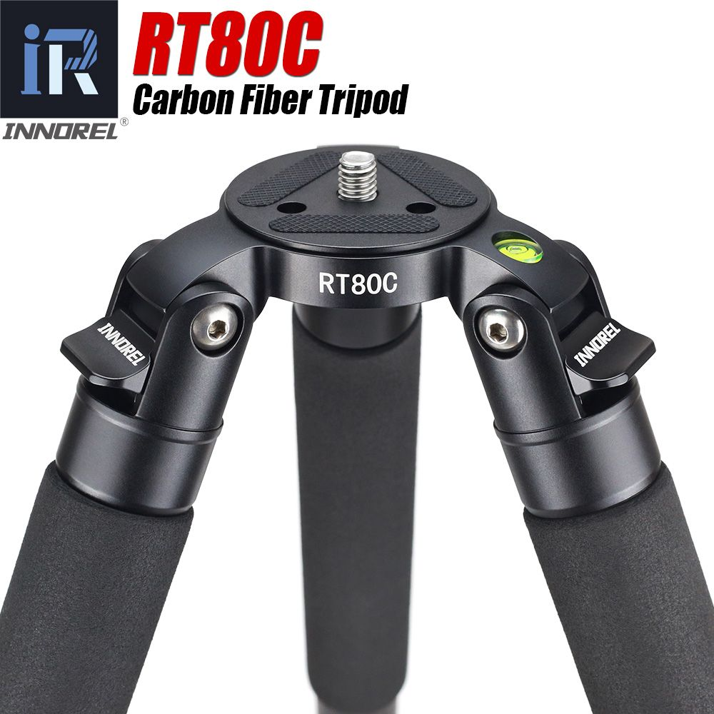 RT80C Professionelle carbon stativ für DSLR kamera video camcorder Heavy duty 20 kg max last schüssel stativ vogelbeobachtung kamera stehen