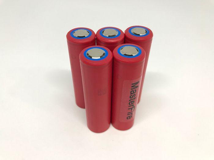 MasterFire 10 pcs/lot nouveau Original Sanyo 18650 NCR18650GA 3.7 V 3500 mAh batterie Rechargeable Batteries au Lithium 10A décharge