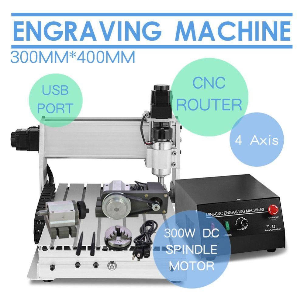CNC 3040 4 achsen Gravur Maschine CNC Fräsen Maschine mini Stecher für holz arbeits