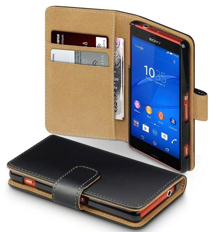 Pour Xperia Z5 Portefeuille cas, New Style Book Stand Étui En Cuir Carte de Couverture De Chiquenaude Pour Sony Xperia Z5 Compact
