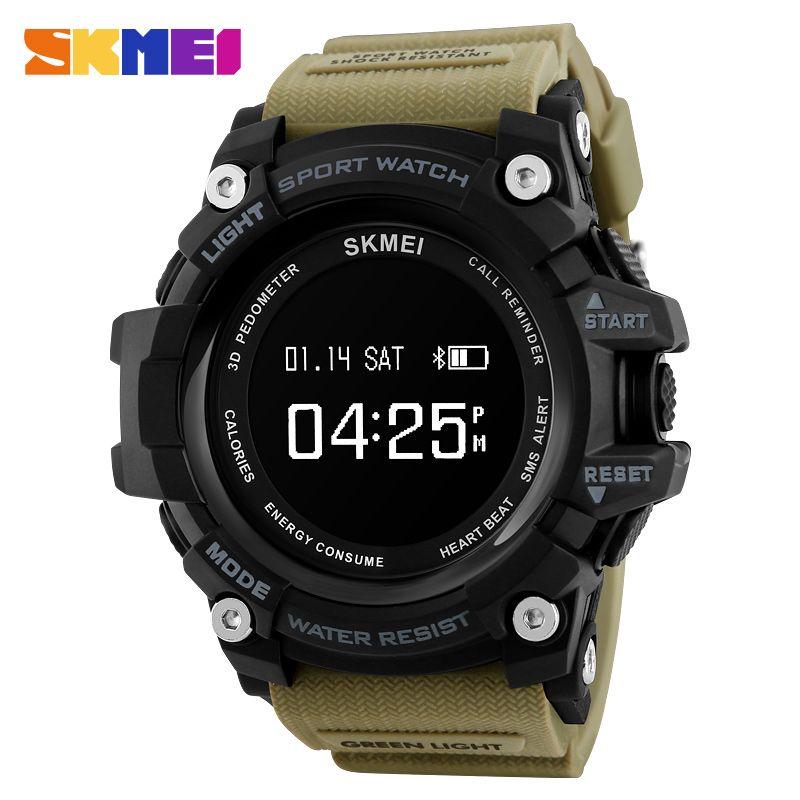SKMEI Smart Watch Men Heart Rate Sport Watches Bluetooth Pedometer Calorie Top Luxury Brand Digital Wristwatch Relogio Masculino