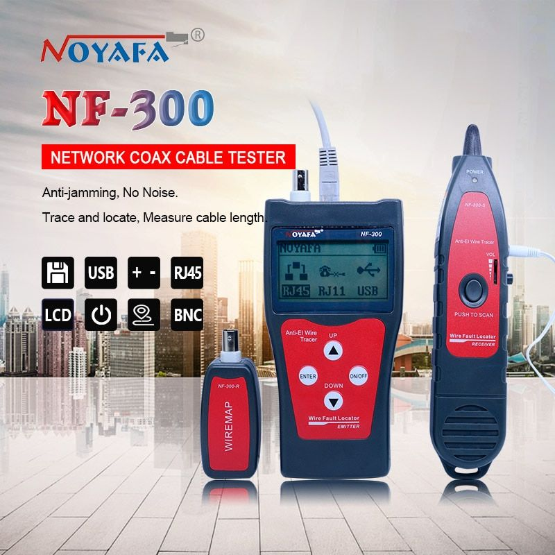 Original Lan <font><b>tester</b></font> RJ45 LCD cable <font><b>tester</b></font> Network monitoring wire tracker without noise interference NOFAYA NF-300