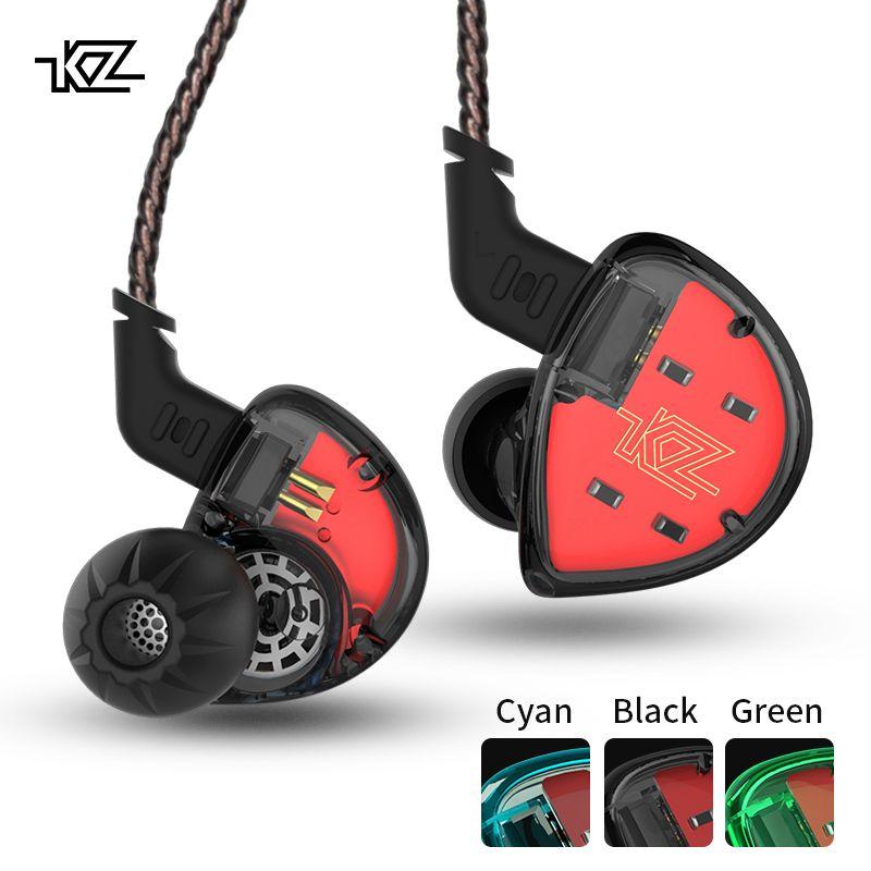 KZ ES4 In Ear Monitors Armature And Dynamic Hybrid Headset Ear Earphone Earbuds HiFi Bass <font><b>Noise</b></font> Cancelling Ear Hooks Headphones
