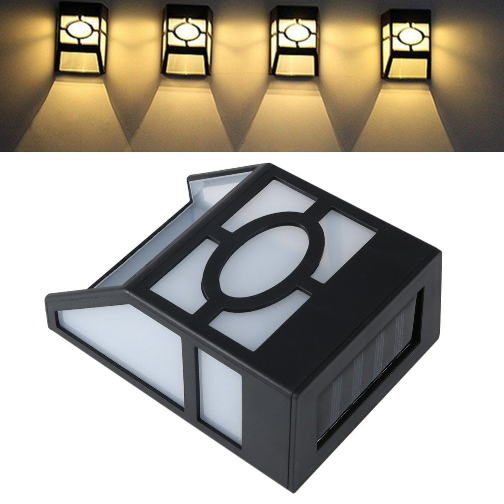 ICOCO 5 pack Solar wall lamp 2LEDs Solar powered LED Solar Light IP44 waterproof Outdoor Garden Yard Path Fence Lamp