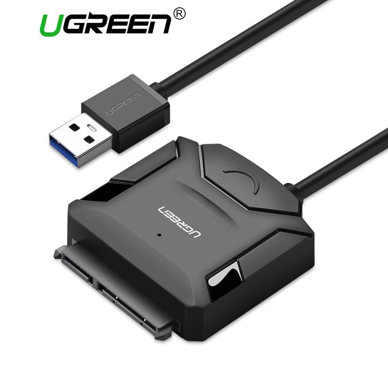 Ugreen SATA to USB Adapter USB 3.0 2.0 Cable to Sata Converter for Samsung Seagate WD 2.5 3.5 HDD SSD Hard Disk USB Sata Adapter