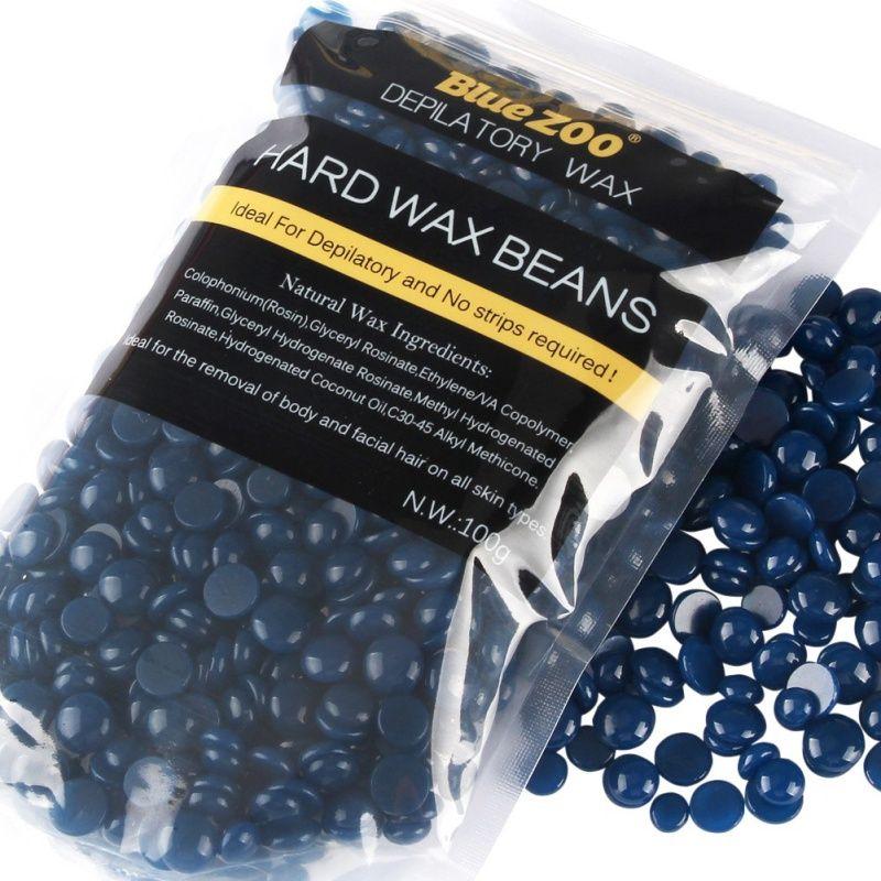 100g No Strip Depilatory Hot Film Hard Wax Pellet Waxing Bikini Hair Removal Lavender Beans CL1
