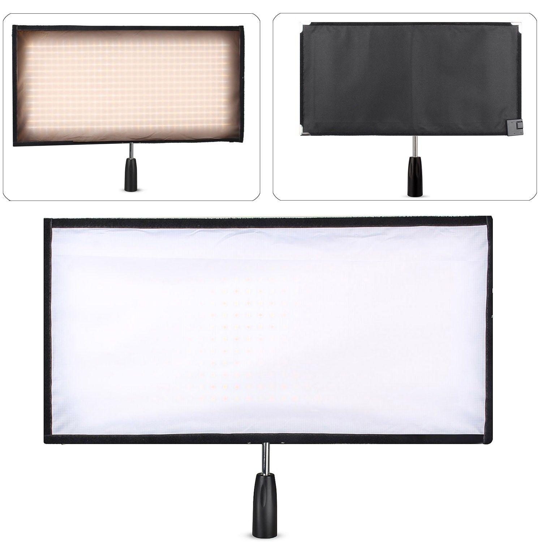 Travor FL-3060A 30x60 cm Flex 3200-5500 Karat 480 LED Flexible Formbare LED Video Stoff Licht Schlank ultraleicht Panel mit 2,4G Fernbedienung