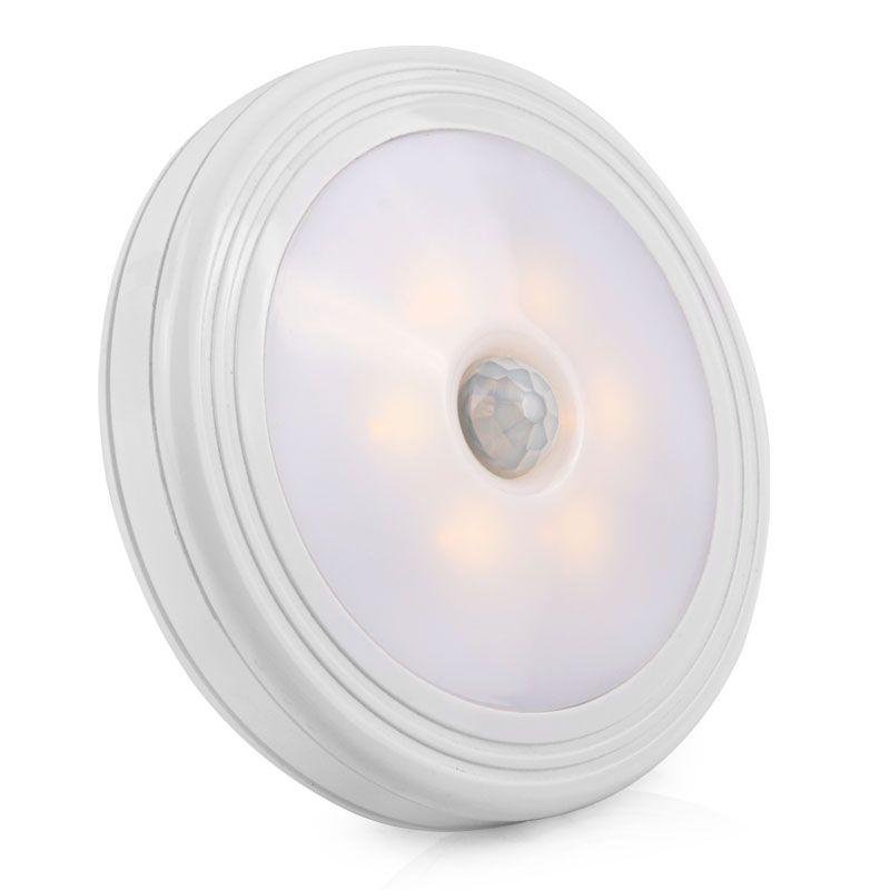 LED Night Light PIR Motion Sensor Round LED Cabinet light Wall Lamp Lighting By 3A Battery For Closet Bedroom Toilet light