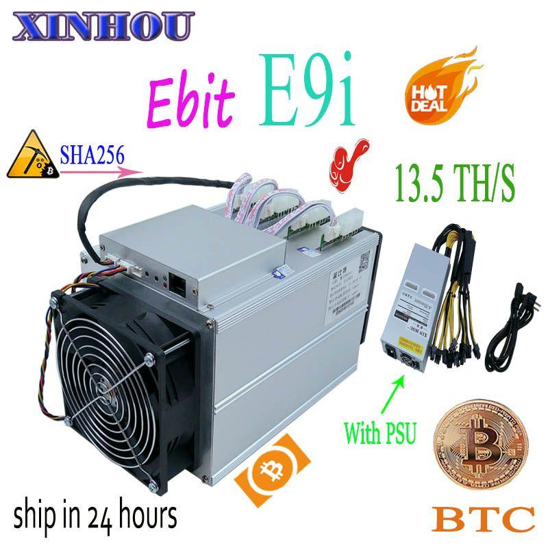 Verwendet bitcoin miner Ebit E9i 13,5 T SHA256 Asic miner Mit NETZTEIL BTC BCH bergbau Besser als E10 antminer S9 s11 S15 T15 B7 M10 M3 T3
