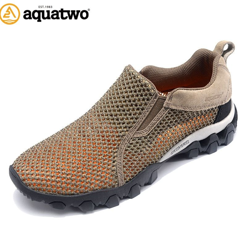 AQUA TWO Outdoor Camping Men Sports Hiking Shoes Air mesh Walking Sneakers Durable Breathable Climbing Athletic Shoes HDS-100957