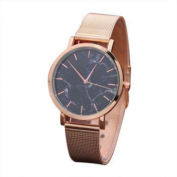 Femmes montres 2018 marque de luxe inoxydable femmes montres étanche bracelet fermoir marbre montre femmes Relojes mujer