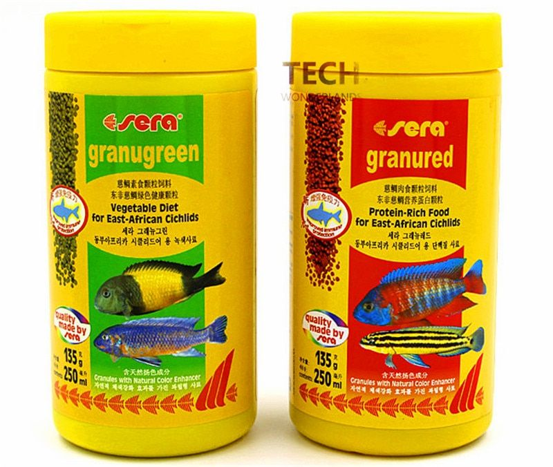 135G 600G sérum Granugreen légumes régime et sérums granurés aliments riches en protéines pour les cichlidés d'afrique de l'est allemagne Original