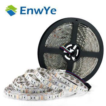 EnwYe 5 M 300 Led étanche RGB Led Bande Lumière 3528 5050 DC12V 60 Leds/M Fiexble Lumière Led ruban Bande Décoration Lampe