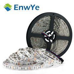 Enwye 5 м 300 светодио дный s водонепроницаемый RGB светодио дный полосы света 3528 5050 DC12V 60 светодио дный s/M гибкий светильник светодио дный лента ук...