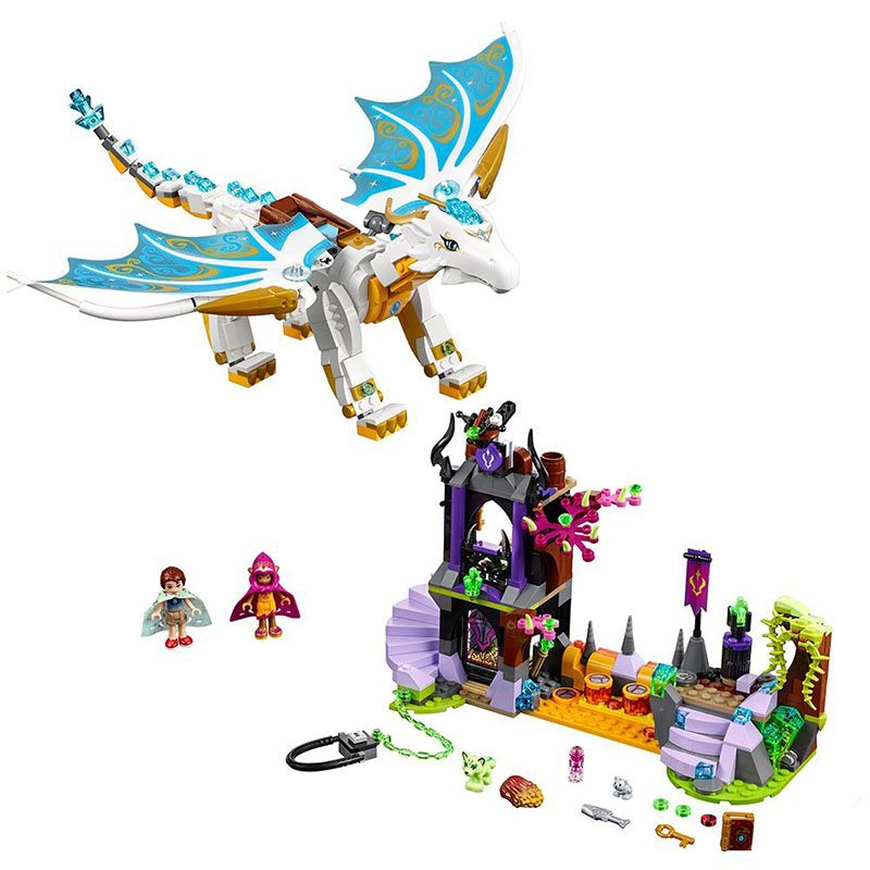 New Elves fairy Long After Rescue dragon girls fit legoings elves fairy friends building blocks bricks diy Toys 41179 gift kids