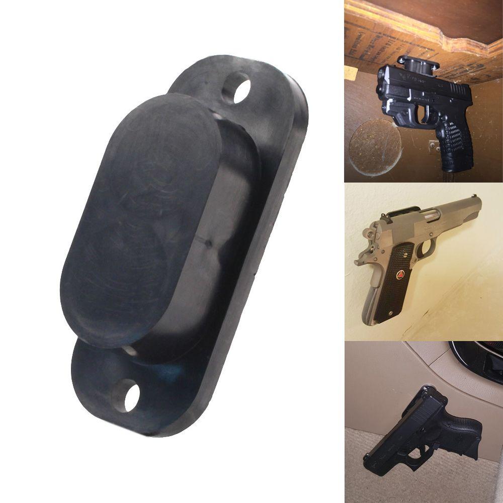 Concealed Magnetic Gun Holder Holster Gun Magnet 25LB <font><b>Rating</b></font> for Car Under Table Bedside