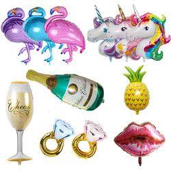 Hawaii fiesta unicornio flamenco globos helio grande globo de aire para el feliz cumpleaños decoraciones niños adultos evento Fiesta suministros