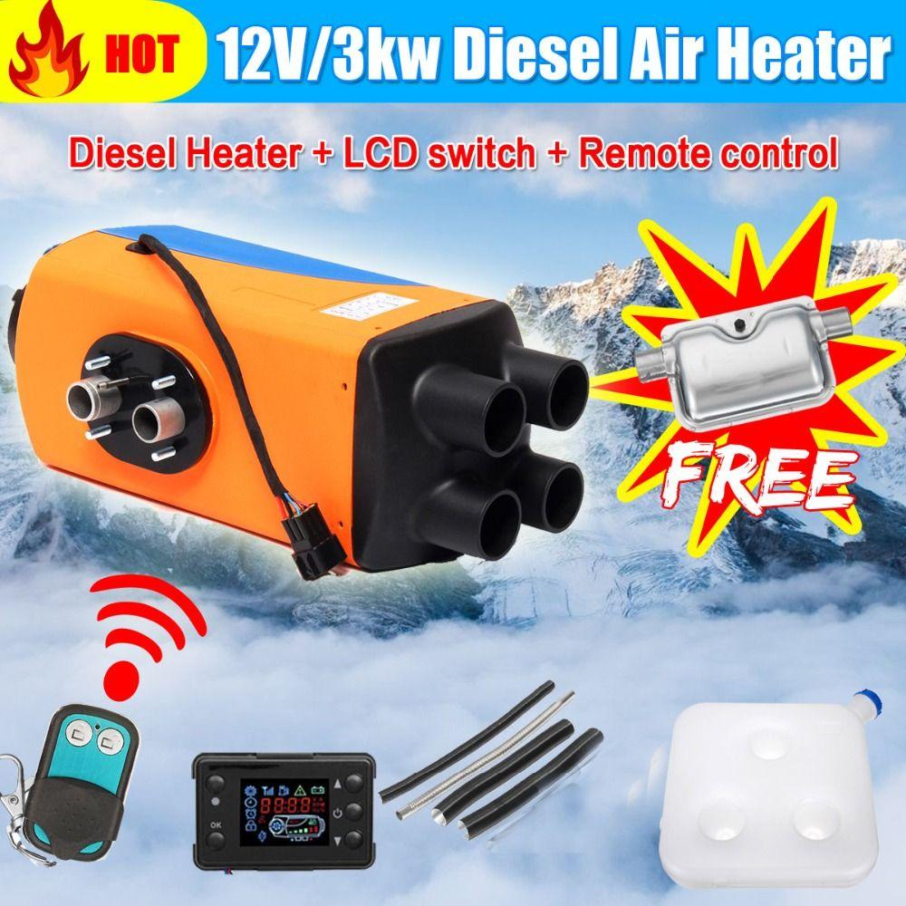 LCD Auto Heizung 12 v/24 v 3KW/5KW Air Diesel Heizung Standheizung Mit Fernbedienung für RV, wohnmobil Anhänger, Lkw