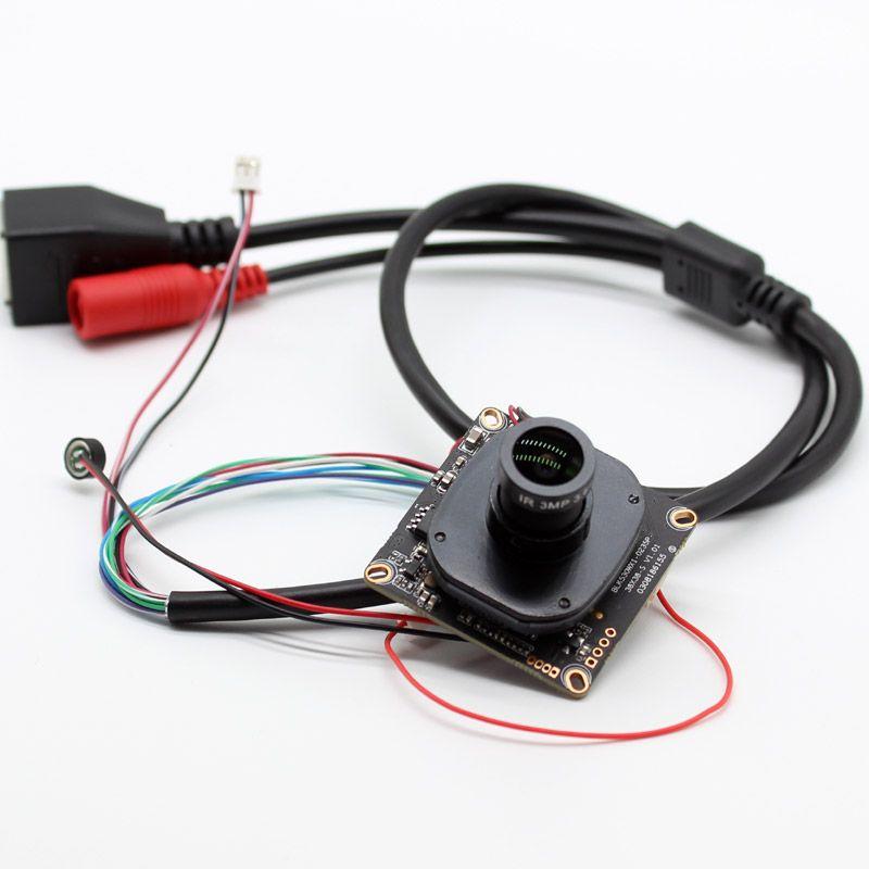 HD 4.0MP CCTV IP Kamera Modul 1440p Netzwerk Sicherheit IPC bord CMOS H.265 XMeye ONVIF mit Audio mic IP kabel objektiv IRCUT