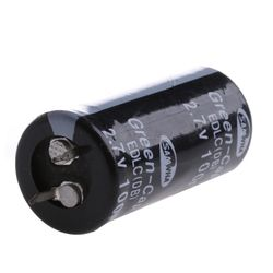 2Pcs Super Capacitor 2.7V 100F Ultra Capacitor Farad New Electrical Components Black Color