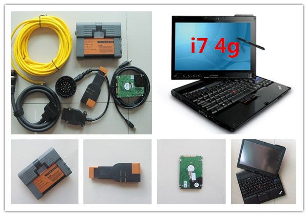 For bmw icom a2 laptop x201t i7 4g thinkpad x201 tablet with software for bmw ista expert mode 500gb hdd multi language win7