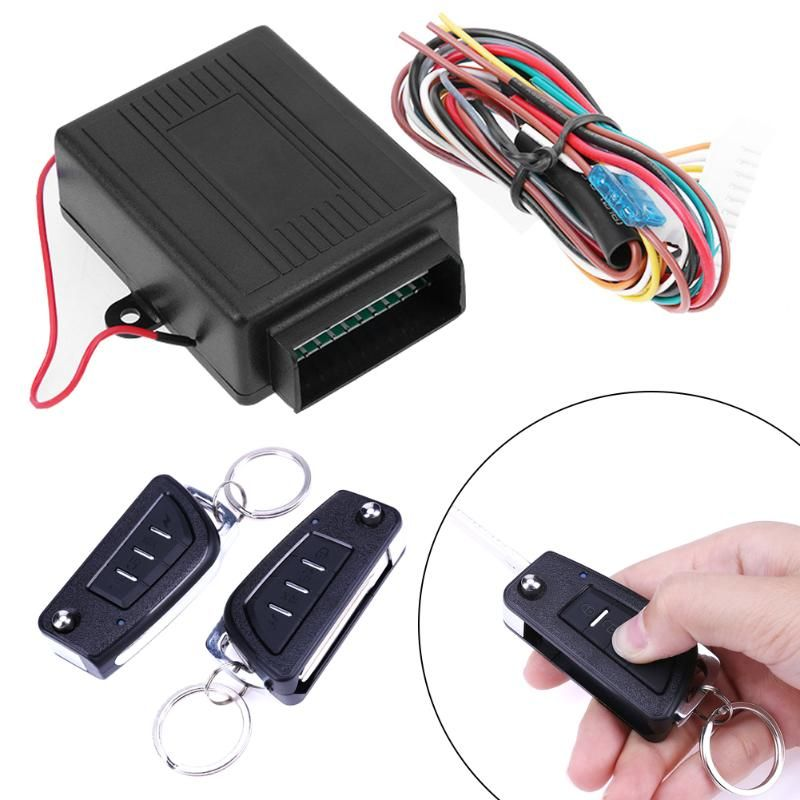 Universal Car Alarm Systems Auto Remote Central Kit Door Lock Keyless Entry System Central Locking with Remote Control Promotion