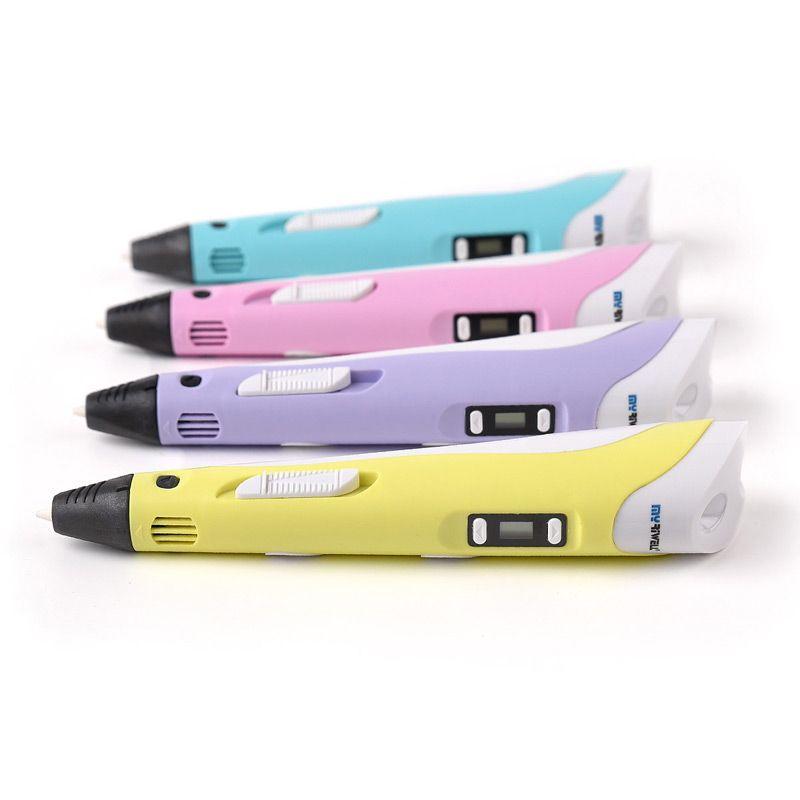 Myriwell DIY 1,75mm ABS/PLA 3D Druck Stift LCD Display Gemälde Mit Filament Kreative Spielwaren Für Kinder Design blau Gelb Farbe