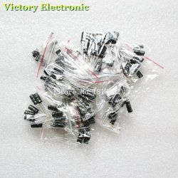 120 PCS/LOT 12 valeurs 0.22 UF-470 UF Aluminium condensateur électrolytique assortiment kit set pack