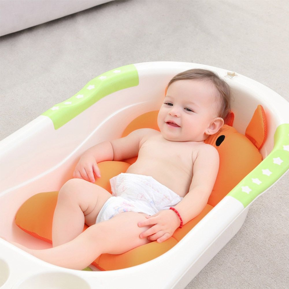 Baby Shower Portable Air Cushion Bed Infant Pad Non-Slip Bathtub Mat Floating Newborn Safety Bath Folding Support Seat