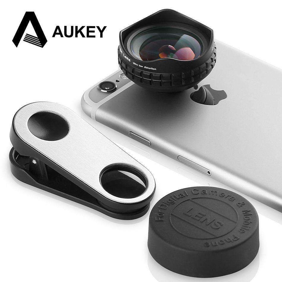 AUKEY Optique Pro Lentille 18 MM HD Grand Angle Téléphone portable Camera Lens Kit 2X Plus Paysage pour iPhone X 8 7 Samsung HTC Xiaomi et Plus