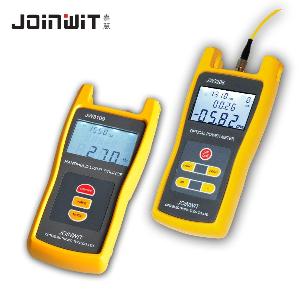 Fiber Optical Multimeter -70~+6dBm JW3208A High Precision Optical Power Meter and JW3109 Optical Light Source 1310/1550nm