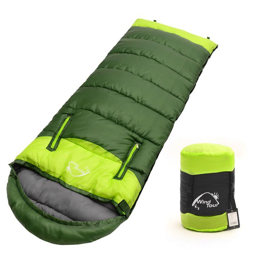 2017 erwachsenen 3 Saison Hohl Baumwolle Spleißen Schlafsäcke Outdoor Sports Dicken Wandern Camping Kletter Warmen Schlafsack VK023