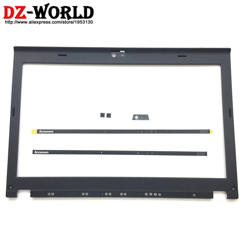 NEW Original for ThinkPad X220 X230 LCD Front Shell Bezel Cover LED Light Indicator Camera Plate Screw Covers 04W2186 04Y1854