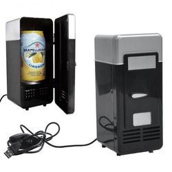 Mini refrigerador portátil USB nevera refrigerador de Gadget con calentador USB latas de bebidas cerveza bebida enfriador y calentador