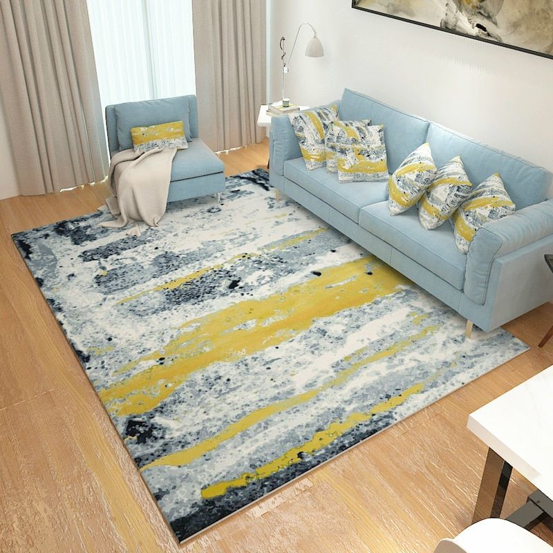 Abstract Ink Paint Carpets For Living Room Modern Art Rugs For Bedroom Study/Restaurant Floor Mat Soft Coffee Table Area Rug