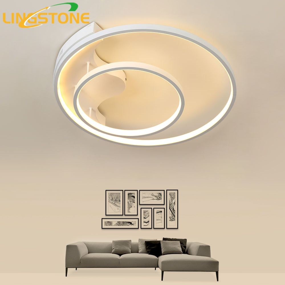 Modern Led Ceiling Light with Remote Control Ring Kitchen Lighting Ceiling Lamps for Living Room Bedroom Restaurant Bathroom
