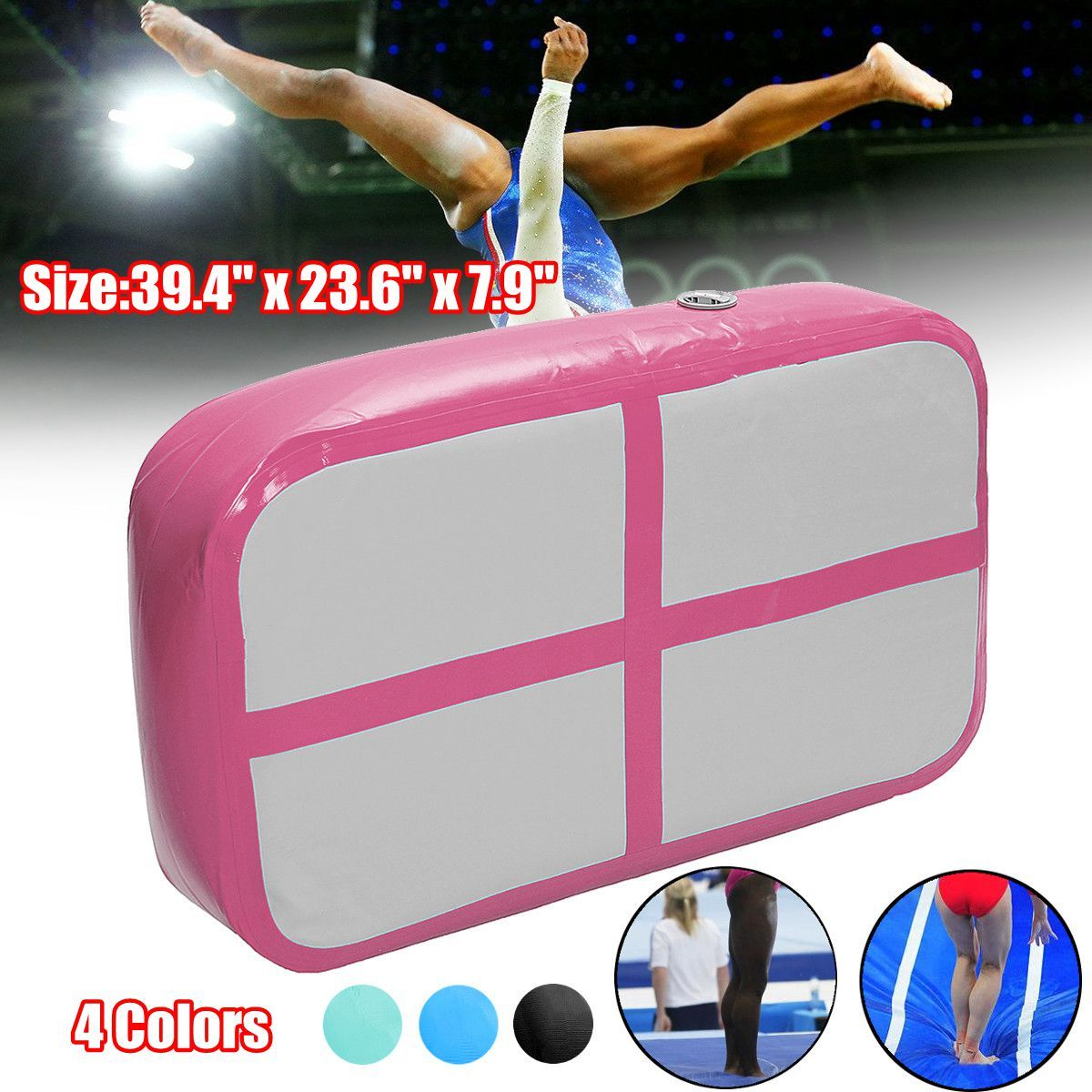 Air Track Floor Home Inflatable Gymnastics Training Tumbling Mat GYM for Kids