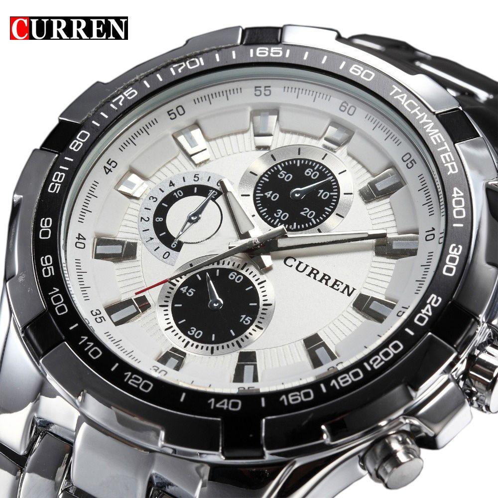 2017 marke Luxus edelstahl Uhr Männer Business Casual quarzuhren Militär Armbanduhr wasserdicht Relogio Neue VERKAUF