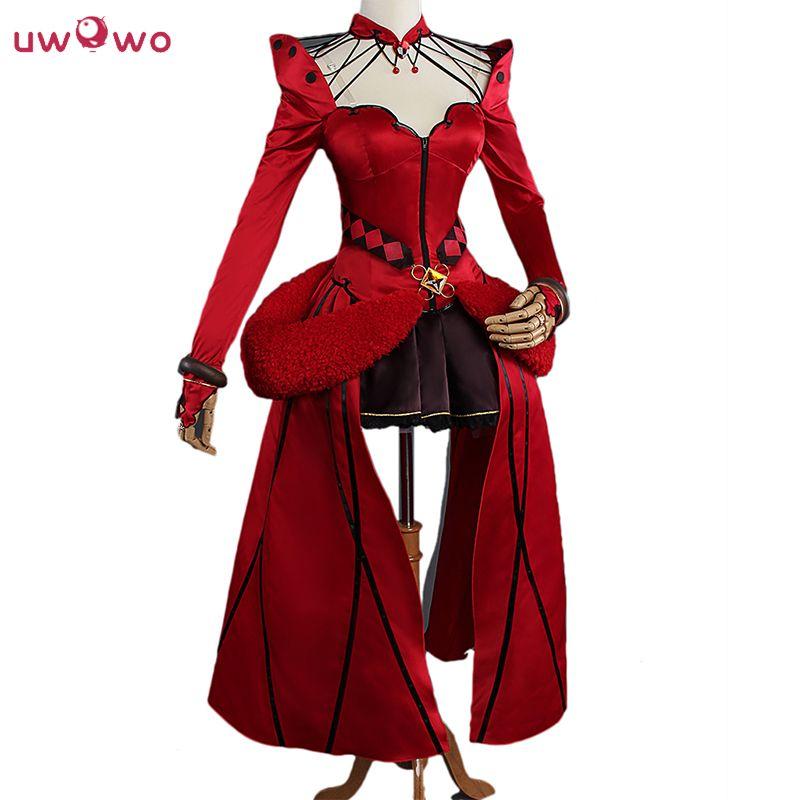 UWOWO Rin Tohsaka Cosplay jeu Anime destin Grand ordre artisanat formel robe rouge Costume destin Grand ordre Cosplay Rin Tohsaka